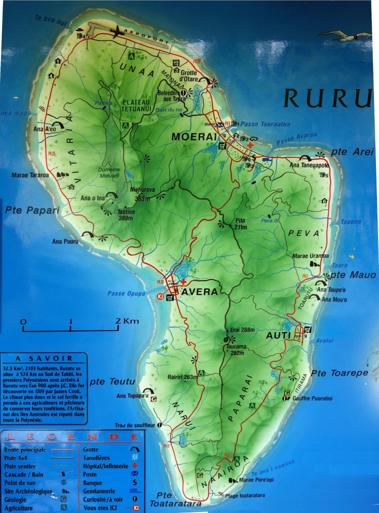 Map of Rurutu